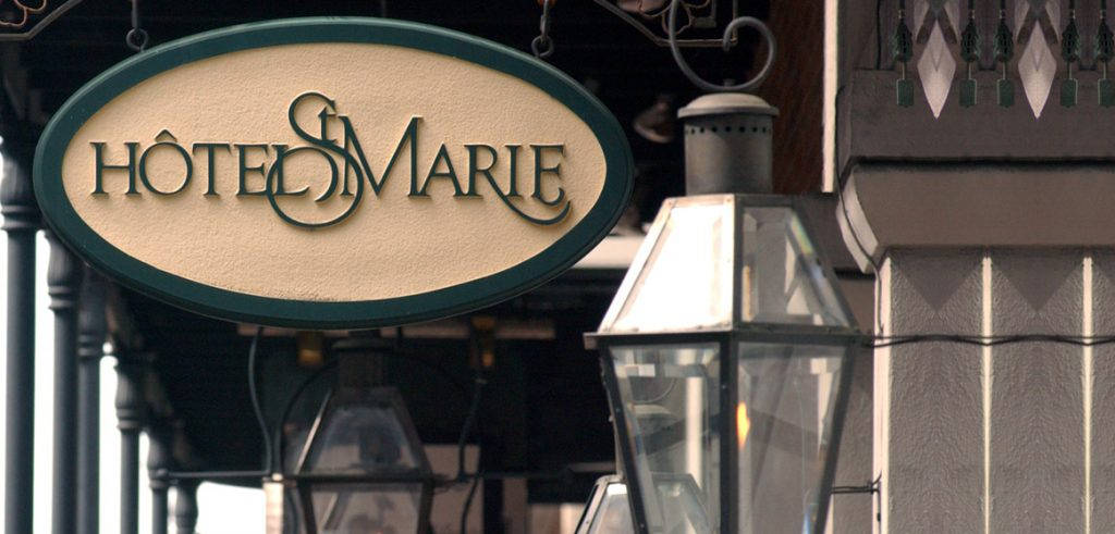 Hotel St. Marie outside sign